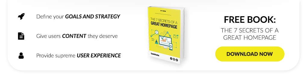 Featured Download - The 7 Secrets of a Great Homepage